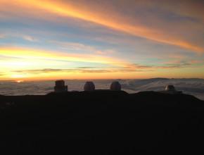 Sunset from Mauna Kea summit
